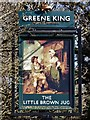 TQ5246 : The Little Brown Jug Pub Sign in Chiddingstone Causeway, Kent by John P Reeves