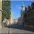 TL4458 : Empty Cambridge: Trumpington Street by John Sutton