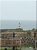 NZ4349 : Seaham harbour lighthouse by Steve  Fareham