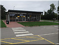 SP3086 : Starbucks Drive Thru, Corley Services by Hugh Venables