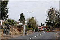SO9095 : Bus stops in Mount Road in Penn, Wolverhampton by Roger  Kidd