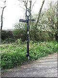 NZ3472 : Sign near Churchill Playing Fields by Geoff Holland