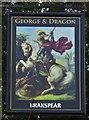 TQ5541 : George & Dragon Pub Sign in Speldhurst, Kent by John P Reeves