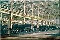 SU1384 : The main erecting shop, Swindon Works, 1963 by Alan Murray-Rust