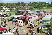 SP2055 : Bus rally at Stratford upon Avon, 1970 by Alan Murray-Rust