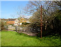 ST3090 : Rusty pole on a green, Malpas, Newport by Jaggery