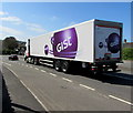 ST3090 : Gist articulated lorry descending the A4051 Malpas Road, Newport by Jaggery