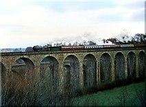 SJ2837 : Clun Castle crossing Chirk Viaduct, 1967 by Alan Murray-Rust