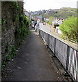 ST3089 : Down an elevated pavement, Brynglas Road, Newport by Jaggery