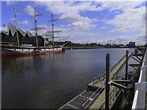NS5565 : Govan Pier on the River Clyde by Steve Daniels