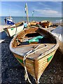SY2389 : Small boats on Beer beach by Marika Reinholds