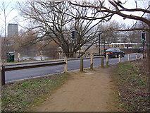 TQ2187 : Cool Oak Lane by the Welsh Harp reservoir by David Howard
