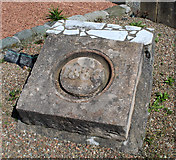 NS3154 : Date stone at the former Bridgend Public School by Thomas Nugent