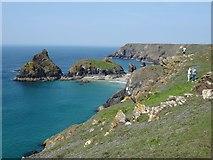SW6813 : Cornish coast at Kynance Cove by Philip Halling