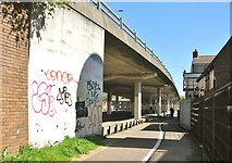 TG2309 : Foot and cycle paths to Magdalen Street by Evelyn Simak