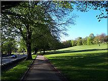SE2636 : Path alongside the A65 opposite Kirkstall Abbey by Stephen Craven