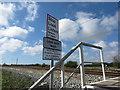 NZ3271 : Signage at South Wellfield Pedestrian Crossing by Geoff Holland