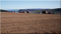 NH6454 : Operations centre: Potato planting by Tullich Steading by Julian Paren