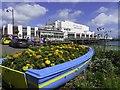 SZ5983 : Boat planter by Sandown Pier by Steve Daniels