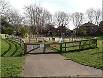 NZ2567 : Play area, Quarry Park, South Gosforth, Newcastle upon Tyne by Graham Robson