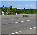 ST3090 : Two cyclists ascending Malpas Hill, Newport by Jaggery