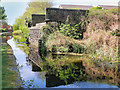 SD7807 : Manchester, Bolton and Bury Canal, Bridge Abutment at Radcliffe by David Dixon
