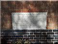 SE2540 : Holy Trinity church, Cookridge - foundation stone by Stephen Craven