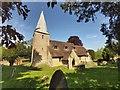 SU9547 : St Nicholas Church at Compton in Surrey by John P Reeves