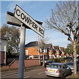 SZ0894 : Moordown: Cowper Road by Chris Downer