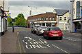 H4572 : Traffic at Dublin Road Corner, Omagh by Kenneth  Allen