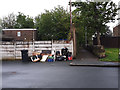 SE2434 : Rubbish for collection, Rossefield Avenue, Bramley by Stephen Craven