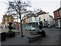 SK7519 : Market Place and Leicester Street on a Saturday evening by Andrew Tatlow