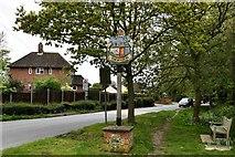 TM1469 : Thorndon: Village sign by Michael Garlick