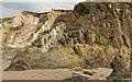 SX6643 : Rocks and cliffs north of Butter Cove by Derek Harper