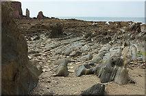 SX6643 : Wave-cut platform near Long Stone by Derek Harper