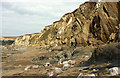 SX6643 : Cliffs north of Butter Cove by Derek Harper