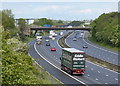 SP5498 : M1 motorway towards Leicester by Mat Fascione