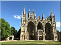 "TL1998 : The west facade of Peterborough Cathedral during the ""lockdown"" by Richard Humphrey"