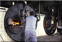 NZ4052 : Stoking the boiler at Ryhope Pumping Station by Chris Allen