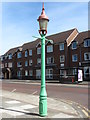 NZ3471 : Sewer Gas Lamp, Front Street, Monkseaton by Geoff Holland