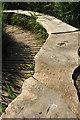 SX8158 : Wooden seating and walkway, Sharpham Marsh by Derek Harper