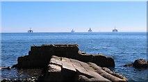 NT3597 : Oil rigs off Buckhaven by Bill Kasman