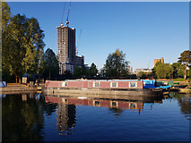 SJ8598 : New Islington Marina by Peter McDermott