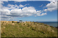 NO7047 : Clifftop car park near Red Head by Andrew Diack