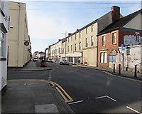 ST3187 : Lower Dock Street towards George Street, Newport by Jaggery