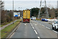 NS9279 : A9 approaching Cadgers Brae Roundabout by David Dixon