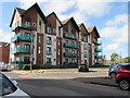 ST3188 : Four-storey block of apartments, Copper Dome Mews, Newport by Jaggery