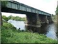 SE3419 : Railway bridge across the Calder, Belle Vue by Christine Johnstone