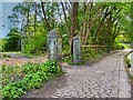 SD7606 : Manchester, Bolton and Bury Canal, Old Gate Piers at Ladyshore by David Dixon