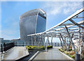TQ3380 : The Garden at 120, Walkie Talkie View by Des Blenkinsopp